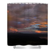 A Storm At Sunset Shower Curtain