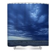 A Storm Brews On The Horizon Shower Curtain