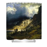 A Storm In The Rocky Mountains Mt. Rosalie, 1866 Shower Curtain