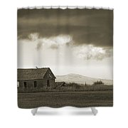 A Storm Looms Shower Curtain