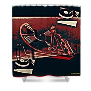 A Storm Of Turntables Shower Curtain