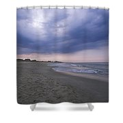 A Storm Sky Gathers At Kitty Hawk Shower Curtain