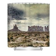 A Storm's Coming Shower Curtain