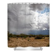 A Stormy Desert Sky Shower Curtain
