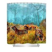 A Streak Of Tigers Shower Curtain