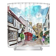 A Street In Ripon Shower Curtain