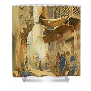 A Street Scene In Cairo Shower Curtain