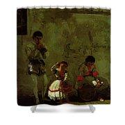 A Street Scene In Sevilla 1870 Shower Curtain