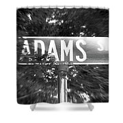 Ad - A Street Sign Named Adams Shower Curtain