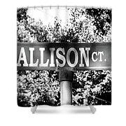 Al - A Street Sign Named Allison Shower Curtain