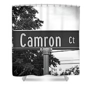 Ca - A Street Sign Named Camron Shower Curtain