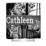 Ca - A Street Sign Named Cathleen Shower Curtain