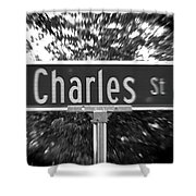Ch - A Street Sign Named Charles Shower Curtain