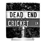 Cr - A Street Sign Named Cricket Shower Curtain