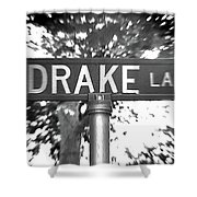 Dr - A Street Sign Named Drake Shower Curtain