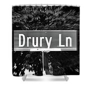 Dr - A Street Sign Named Drury Shower Curtain