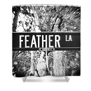 Fe - A Street Sign Named Feather Shower Curtain