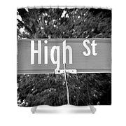 Hi - A Street Sign Named High Shower Curtain