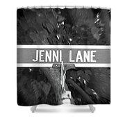 Je - A Street Sign Named Jenni Shower Curtain