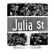 Ju - A Street Sign Named Julia Shower Curtain