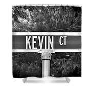 Ke - A Street Sign Named Kevin Shower Curtain