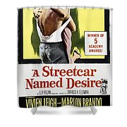 A Streetcar Named Desire Portrait Poster Shower Curtain