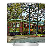 A Streetcar Named St. Charles Shower Curtain