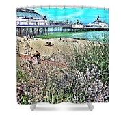 A Stroll At The Seaside  Shower Curtain