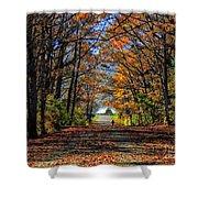 A Stroll Through Autumn Colors Shower Curtain