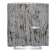 A Stroll Through The Marsh Shower Curtain