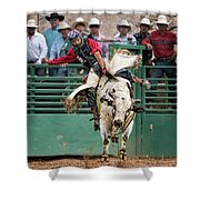 A Strong Bull Ride Shower Curtain