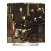 A Studio At Les Batignolles 1870 Shower Curtain