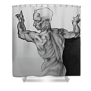A Study Of Michelangelo Work Shower Curtain