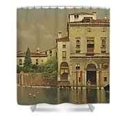 A Sultry Day In Venice Shower Curtain