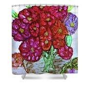 A Summer Bouquet Shower Curtain