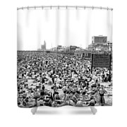 A Summer Day At Coney Island Shower Curtain
