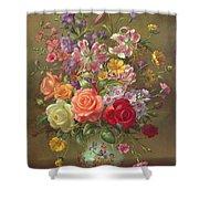A Summer Floral Arrangement Shower Curtain