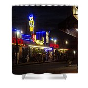 A Summer Night In Tarpon Springs Shower Curtain