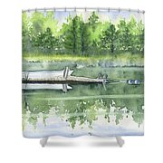 A Summer Pond Shower Curtain