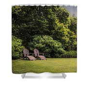 A Summer Sitting Place Shower Curtain