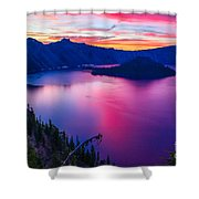 Crater Lake Sunset, Oregon Shower Curtain