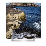 A Summer's Day At Nubble Light, York, Maine  -67969 Shower Curtain