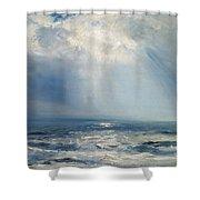 A Sunbeam Over The Sea Shower Curtain