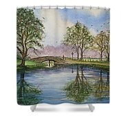 A Sunday Stroll Shower Curtain