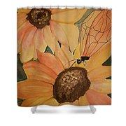 A Sunflower Surprise Shower Curtain