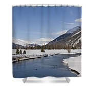 A Sunny Winter Scene In The Swiss Alps Shower Curtain
