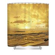 A Sunrise Over Oahu Hawaii Shower Curtain