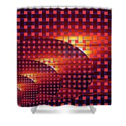 A Sunset In Weave Shower Curtain