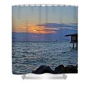 A Sunset On Berkeley Shower Curtain