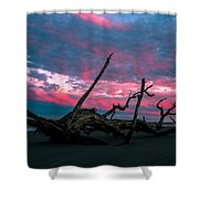 A Sunset On Jekyll Shower Curtain